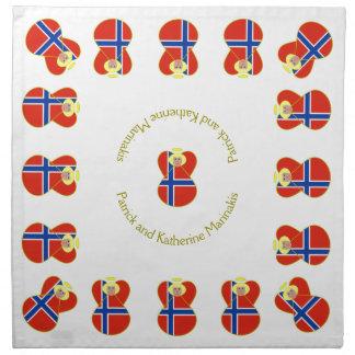 Norskt hår för ängelflaggablondin tygservett