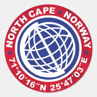 NORTH CAPE SPECIAL NORWAY RUNT KLISTERMÄRKE
