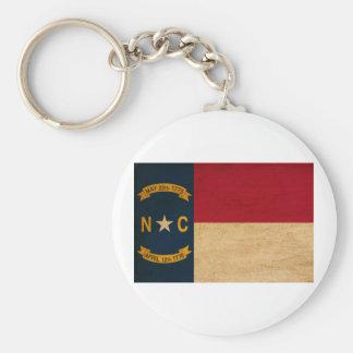 North Carolina flagga Rund Nyckelring