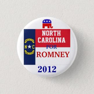 North Carolina för Romney 2012 Mini Knapp Rund 3.2 Cm