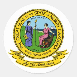 North Carolina förseglar Runt Klistermärke