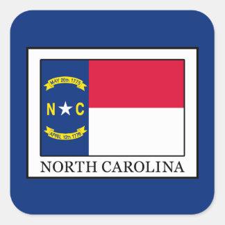North Carolina Fyrkantigt Klistermärke