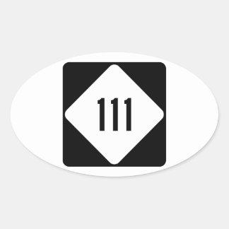 North Carolina huvudväg 111 Ovalt Klistermärke