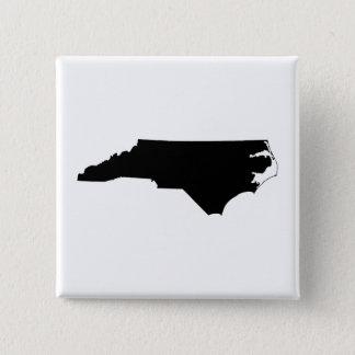 North Carolina i svartvitt Standard Kanpp Fyrkantig 5.1 Cm