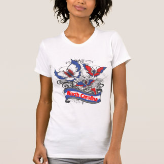 North Carolina patriotismfjäril T-shirts