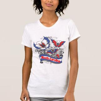North Carolina patriotismfjäril Tee Shirt
