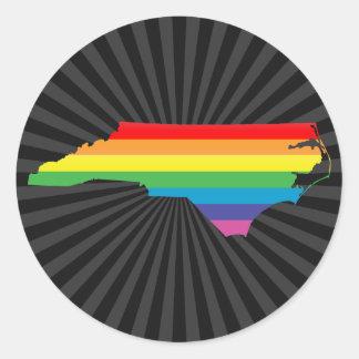 North Carolina pride. Runt Klistermärke