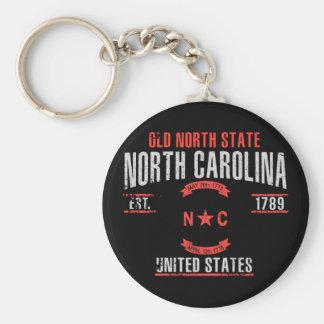 North Carolina Rund Nyckelring