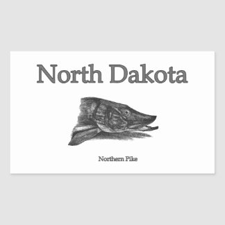 North Dakota nordliga Pike Rektangulärt Klistermärke