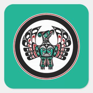 Northwest Thunderbird för Fyrkantigt Klistermärke