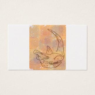 Noshörning akvarelljord visitkort