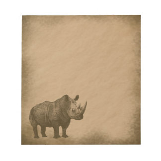Noshörning-grunge Anteckningsblock