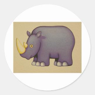 noshörning runt klistermärke
