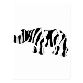 noshörningsebra: Vilden Mosar-Upp Vykort