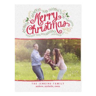 Nostalgisk vykort för julfotokort