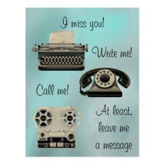 Nostalgiskt skriv mig appellen mig vykort
