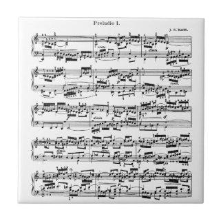 Notblad av Bach Liten Kakelplatta