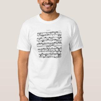 Notblad av Bach Tee Shirt