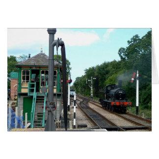 Notecard: Ånga tåg och signalera boxas OBS Kort