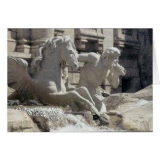 Notecard - den Treve fontänen i Rome Hälsningskort