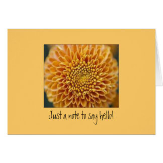Notecard med chrysanthemumen OBS kort