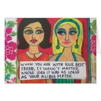 Notecard - när du är med din bästa vän OBS kort