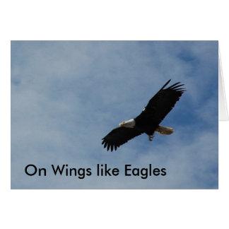 """Notera kortet - """"på lika örnar för vingar """", OBS kort"""
