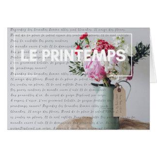 Notera kortet - Springtime - franskt land OBS Kort
