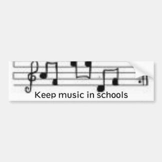 noterar behållamusik i skolor bildekal