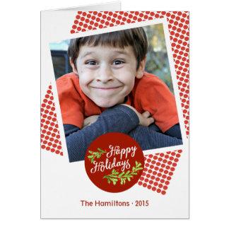 Noterar den moderna fotojulen för glad helg kortet OBS kort