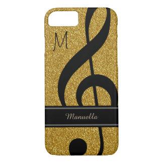 noterar den svart musikalen för personlig på guld-
