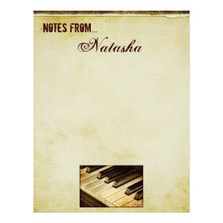 Noterar från… pianonyckelbrevhuvud brevhuvud