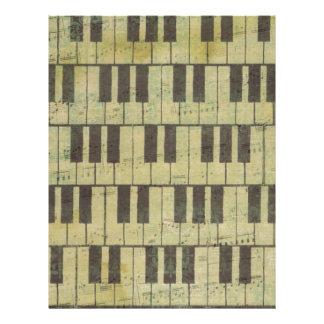 Noterar nyckel- musik för piano brevhuvud