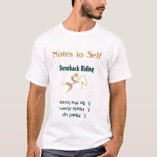 Noterar till den rida T-tröja för själven Tee Shirts