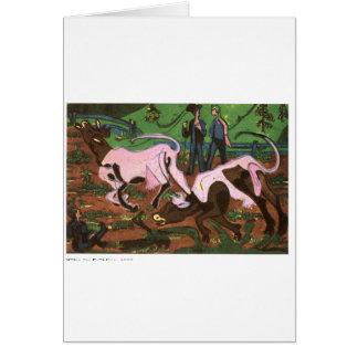 Nötkreatur i våren av Ernst Ludwig Kirchner Hälsningskort