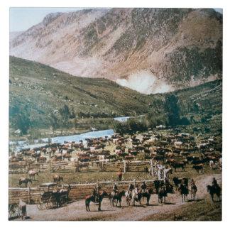 Nötkreaturranch, Colorado, 1899 (fotoet) Kakelplatta
