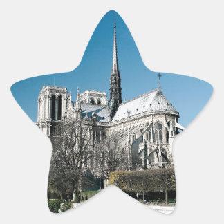 Notre Dame domkyrka Stjärnformat Klistermärke