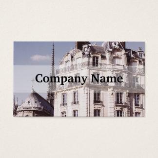 Notre Dame och Parisian arkitektur Visitkort