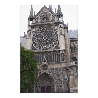 Notre Dame Paris, frankrike Brevpapper