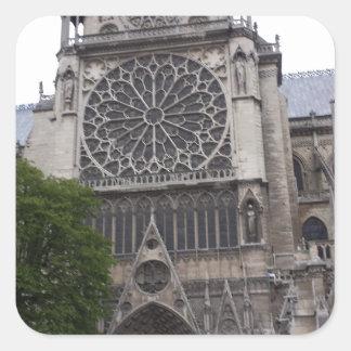 Notre Dame Paris, frankrike Fyrkantigt Klistermärke