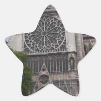Notre Dame Paris, frankrike Stjärnformat Klistermärke