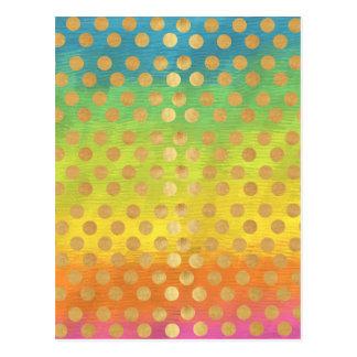 Nouveau för polka dots för färgrik tapestry för vykort