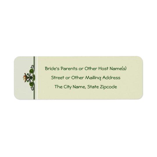 Nouveau liljar (returetiketter) returadress etikett