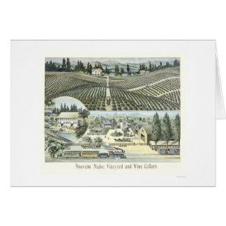 Nouveau Medoc vingård- och vinkällare Hälsningskort