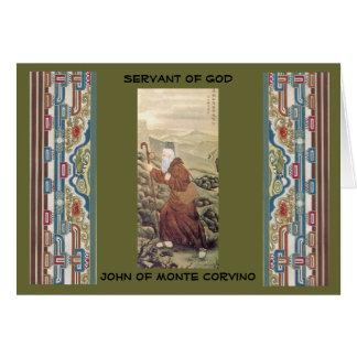 Nov 29 tjänare av guden John av Monte Corvino Hälsningskort