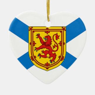 Nova Scotia flagga Julgransprydnad Keramik