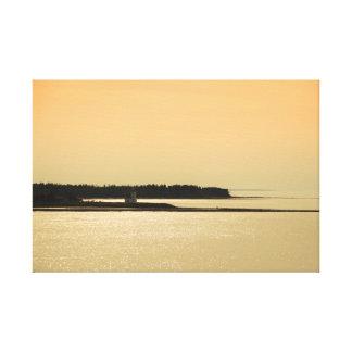 Nova Scotia Shoreline på solnedgången fotograferar Canvastryck