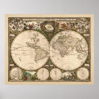 Nova Totius Terrarum Orbis Tabula (F. de Poster