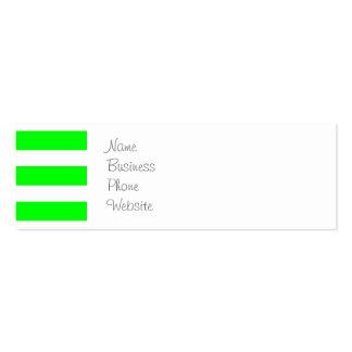 Novelty för mönster för randar för för neonlimefru visitkort