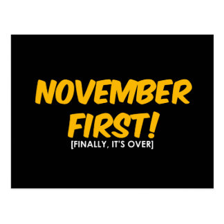 November 1st Anti Halloween Vykort